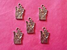 Tibetan silver barre de chocolat charmes 5 Par Pack-BONBONS / fast food
