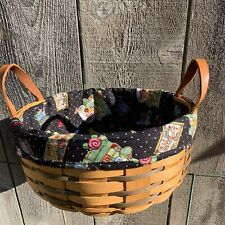 Custom Black Engelbreit Liner for Longaberger Darning Basket