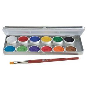 Ben Nye MagiCake Aqua Paint 12 Color Makeup Palette CFK-12