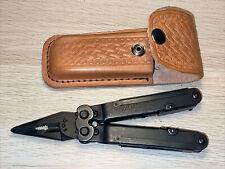 SOG Powerlock w/ leather case multi-tool Excellent