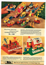 1972 AD TOOTSIETOY FLEET MUSICAL GARDEN FARM FISHER-PRICE CAROUSEL HOUSEBOAT