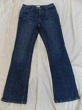 """1342 Womens CATO Stretch Blue Jeans, size 8 x 32"""" inseam, Snap Pockets ~ EUC!"""