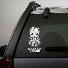 "Baby On Board Cute Groot  Car Truck Laptop Toolbox PET Decal sticker 5.5"" inches"