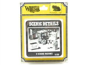 HO 1/87 Scale Woodland Scenics D230 - 8 Vending Machines Scenery Kit SEALED