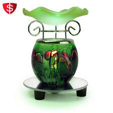 Electric Scented Oil Warmer Lamp Wax Tart Burner Bulb Fragrance Diffuser Green