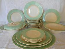 Art Deco 1920s Burleigh Ware Dinner Service Set Plates Platters Taureens 27Piece