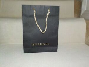 """BVLGARI BULGARI PAPER Gift Bag 11""""X 8-1/4""""X 2.5"""" Brown Matte &BEIGE ROPE HANDLES"""
