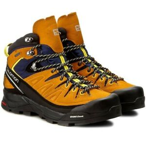 Original Salomon X Alp mid LTR GTX Men's Hiking Shoes - Orange / Black 393251