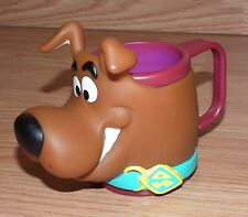 """1998 Scooby Doo 3"""" Kid's Red Small Cup / Mug with Handle & Vinyl Scooby Head!"""