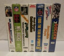 Sports Compilation NEW 7 VHS LOT Vintage Mixed Video NFL Boxing Olympics Soccer