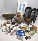 Vintage Dollhouse Furniture And Miniatures 1:12 Lot