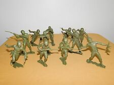 "VINTAGE OLD TOY 10 WWII 5 1/2"" HIGH PLASTIC USMC US MARINES SOLDIERS LOT"