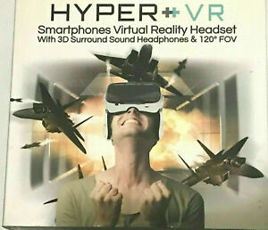 Hyper VR Virtual Reality Headset for 4-6in Smartphone iPhone/Android - White