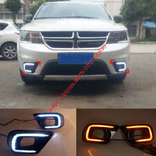 DRL For Dodge Journey JCUV Fiat Freemont LED Daytime Running Light Fog Lamp Turn