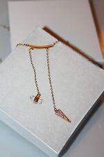 Rebecca Minkoff Necklaces  gold tone Bar raw stove & triangle pendant