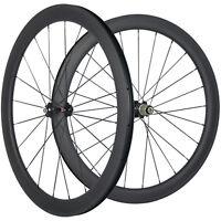 50mm Carbon Fiber Wheelset Tubeless Road Bike Wheels 25 Width 3K Matte 271hub