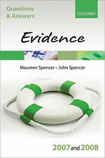 NEW Q and A: Evidence 2007-2008 (Blackstone's Law Questions and Answers)