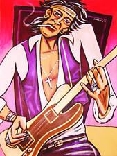 KEITH RICHARDS PRINT poster rolling stones telecaster hot rocks cd black blue