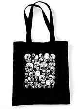 SKULL GARDEN TOTE / SHOULDER BAG - Gothic Goth Emo Horror Skeleton Halloween