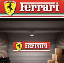 FERRARI Workshop Garage PVC BANNER SIGN Man Grotta Camera Da Letto Studio Ufficio POSTER