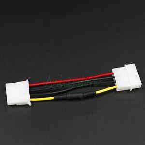 10pcs Molex 4pin M/F 30% Noise Speed Reduction Resistor PC Fan Extension Cable