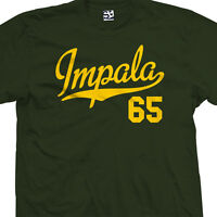 Impala 65 Script Tail T-Shirt - 1965 Lowrider Classic Tee - All Sizes & Colors