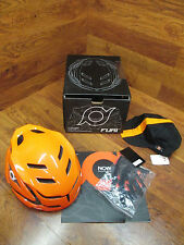 NOW FURI HELMET L/XL ORANGE AND BLACK AND ORANGE CYCLING CAP