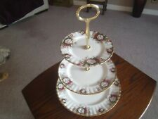 N5 Royal Albert Celebration 3 plate afternoon tea/cake stand Parkinsons charity