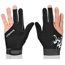 1X Boodun Billiard Snooker Pool Cue Shooter 3 Fingers Glove for Left Right Hand
