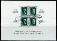 GERMANY HITLER SOUVENIR SHEET SCOTT#B104 MOSTLY SPECIAL CANCELS  USED LOT OF 4