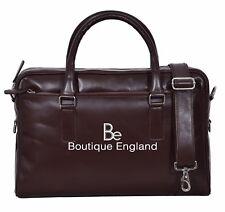 4210 Brown Messenger Shoulder Laptop Office Briefcase Real Lambskin Leather Bag