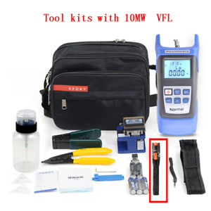 Fiber-Optic-Tool-Kit Power-Meter FTTH Visual-Fault Optical Lcator with Cleaver-