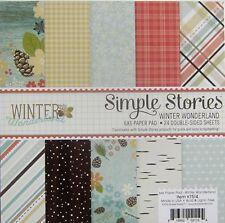 SIMPLE STORIES [WINTER WONDERLAND] 6x6 Paper Pad -  Save 50%
