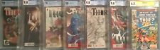 7x THOR comic # 1 2 8 WHAT IF 10 1st FOSTER THOR 1:25 1:300 ROSS VARIANT CGC 9.8