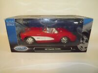 WELLY DieCast 1957 Chevrolet Corvette Convertible Chevy Boss Red & White NEW