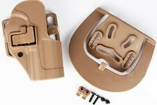 AIRSOFT CQC SERPA PISTOL BELT HARD Holster for USP .45 COMPACT TAN SAND UK