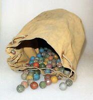 Ancien sac de billes en terre - jeux traditionnels des écoles 1900