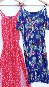 Pretty Bundle of 2 DOROTHY PERKINS / NEW LOOK Midi/Maxi Dresses size UK 12