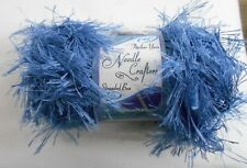 NEW~Needle Crafters Feather Stranded Boa Eyelash Yarn~COUNTRY BLUE DEEP