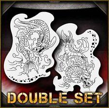 Dragon Koi B Airbrush Stencil Template Airsick