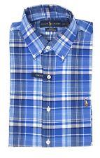 NWT Polo Ralph Lauren Men's Blue/White Slim Fit Stretch Oxford Shirt (Medium)