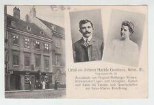 [62807] 1909 POSTCARD AUSTRIAN BEER HALL OWNERS, VIENNA