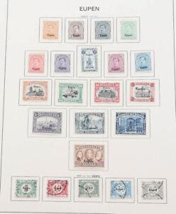 Eupen und Malmedy Sammlung mit Portomarken auf Alben-Blätter