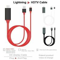 Lightning to HDMI Cable HDTV  Digital HD TV Adapter For Apple iPhone 5 6 7 plus