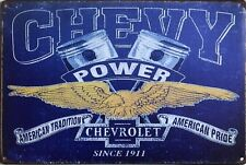 CHEVY Chevrolet Garage Rustic  Vintage Metal Tin Signs Man Cave, Shed & Bar Sign