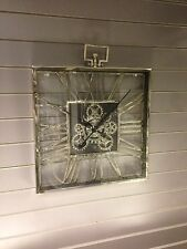 Large Square Chrome Nickel 'gears' Wall Clock Home Decor Accessories Furnishings