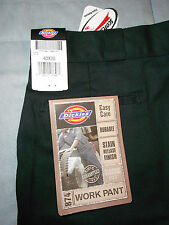 NEW DICKIES 40 x 30 WORK 874 KHAKI pants black EASY CARE FLAT CLASSIC FIT NWT