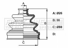 FIRSTLINE FCB6364 BELLOW DRIVESHAFT Front