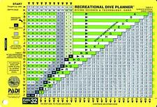 PADI Scuba Divers 32% Oxygen EAN Recreational Dive Planner