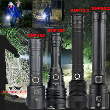 XHP160/100/90.2/70.2 LED Flashlight Rechargeable Torch Searchlight Waterproof